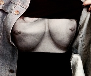 boobs, piercing, and sexy image