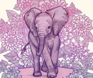 elephant, wallpaper, and mandala image