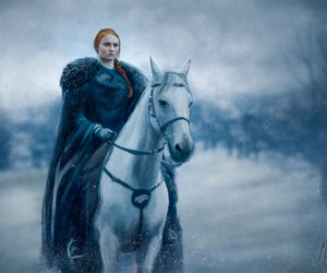 game of thrones, horse, and sansa stark image