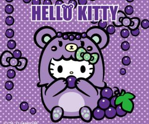grape, hello kitty, and kawaii image