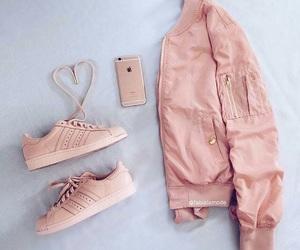 pink, fashion, and adidas image