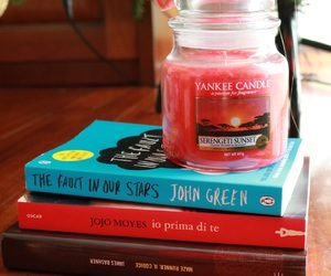 book, candle, and yankee candle image