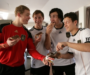 germany, football, and nutella image