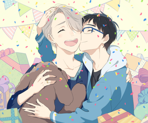 yuri on ice and viktor nikiforov image