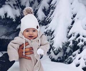 baby, snow, and winter image