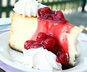 dessert, food, and red image