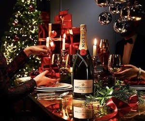 beautiful, champagne, and christmas image
