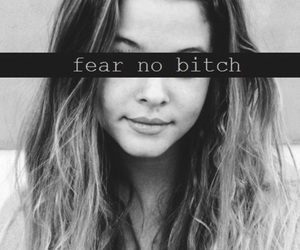 bitch, girl, and fear image