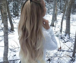 hair, hairstyle, and winter image