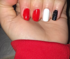 black, glitter, and red image