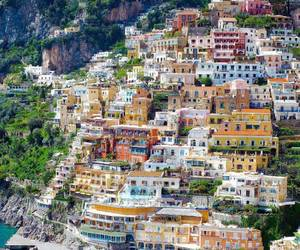italy, travel, and positano image