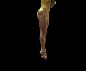 gold, gym, and gymnast image