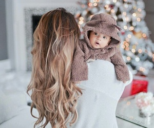 baby, family, and winter image