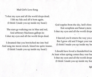 sylvia plath, poem, and poetry image