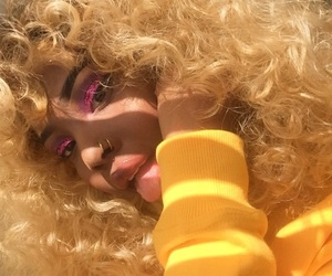 blonde, hair, and yellow image