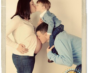 baby, mommy, and daddy image