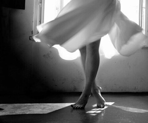 black&white, dancer, and dress image