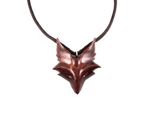 etsy, spirit animal, and carved fox pendant image