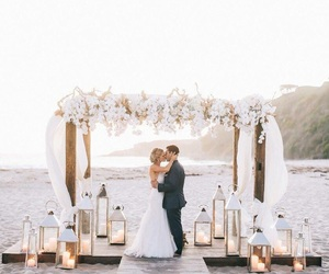 wedding, love, and beach image