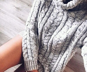 cozy, grey, and girl image