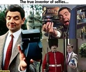 funny, selfie, and mr bean image