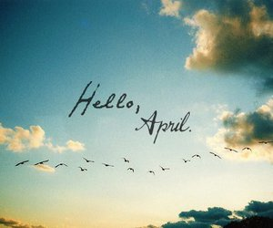 april, hello, and birds image