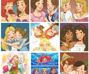 Collage, disney, and princesas image
