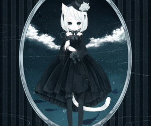 anime, cat, and cat ears image