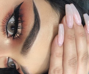 eye, hair, and on fleek image