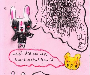 Black Metal, funny, and pink image