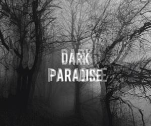 dark, paradise, and black image