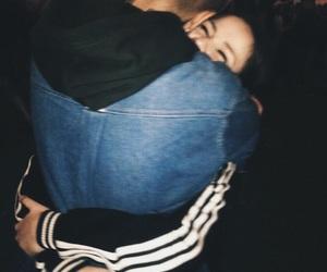couple, hug, and goals image