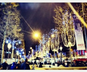 Champs-Elysees, christmas, and lights image