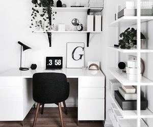 design, interior, and desk image