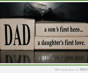 dad, quote, and daughter image