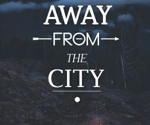 away, city, and heart image