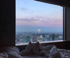 beauty, bed, and city image