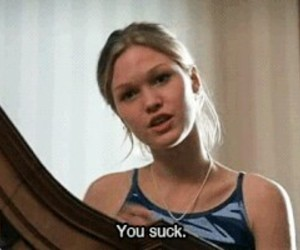 you suck, black and white, and 10 things i hate about you image