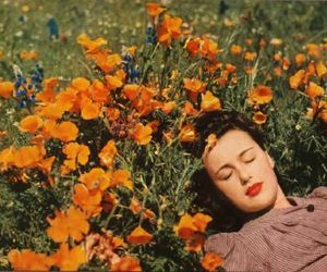flowers, vintage, and 50s image