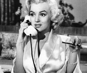 black & white, Marilyn Monroe, and vintage image
