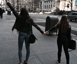 friendship, girl, and friends image