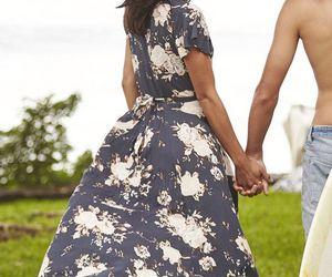 boho, fashion, and long dress image
