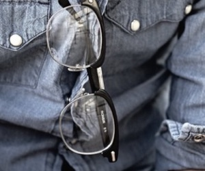 glasses, style, and jeans image
