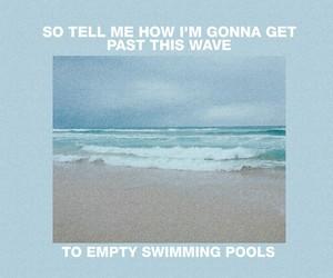 aesthetic, baby blue, and Lyrics image