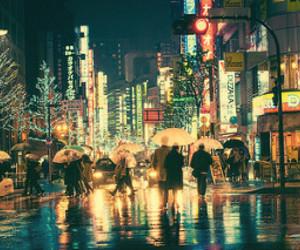 japan and rain image