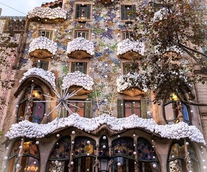 architecture, Barcelona, and christmas image