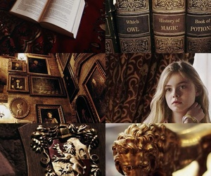 aesthetic, Elle Fanning, and gold image