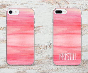 etsy, watercolor iphone case, and monogram iphone case image