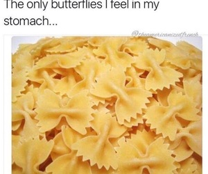 funny, food, and butterflies image
