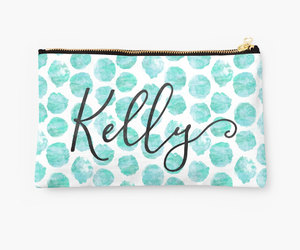etsy, bridesmaid gifts, and makeup pouch image